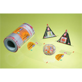 Tear-Off Style Plastic Food Wraps Available in Customer's Specifications